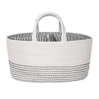 Baby Diaper Storage Box Cotton Rope Room Basket Diaper For Wet Wipes Toy