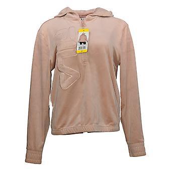 FILA Women & apos;s Hoddie Long Sleeves Pullover 1/4 سستة الوردي