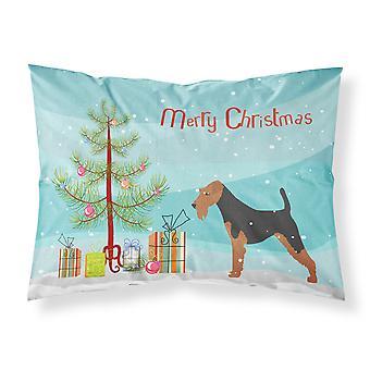 Caroline'S Tesoros Árbol de Navidad Welsh Terrier Merry Fabric Funda de almohada estándar Bb2903Pillowcase
