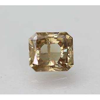 Cert 0,50 Quilates Marrom Amarelo SI2 Radiante Diamante Natural Aprimorado 4.95x4.4mm