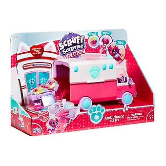 Scruff A Luvs Scruff Surprise Pet Rescue Ambulance Play Set
