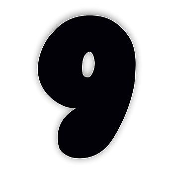 Черный Номер 9 ДЕВЯТЬ Жевательная резинка Акриловая дверная табличка
