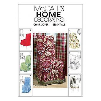 McCalls ompelu kuvio 4404 kodin sisustus tuoli kattaa olennaiset leikkuu