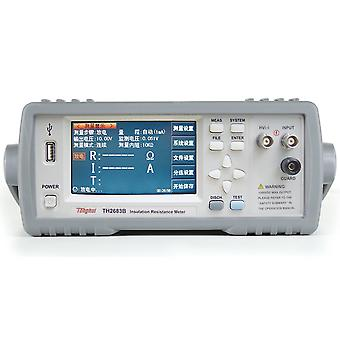 Digital insulation resistance tester with test range 100kΩ to 5tΩ current limit 10ma
