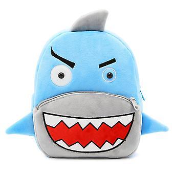 Shark children's baby pehmon lelu pieni koululaukku reppu sarjakuva laukku