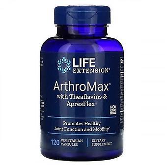تمديد الحياة ArthroMax مع اللافلافين وApresFlex Vegicaps 120