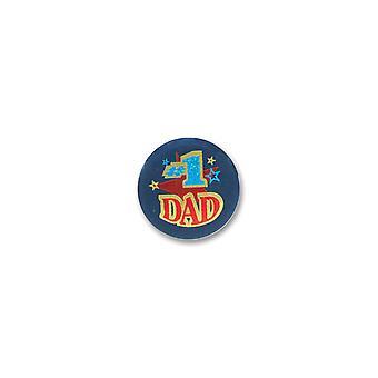 #1 Papa Satin Button (Pack von 6)