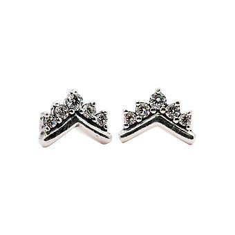 PANDORA Tiara Wishbone Sterling Silver stud örhängen-298274CZ