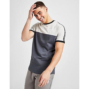 New 11 Degrees Men's Colour Block Tape T-Shirt from JD Outlet Grey