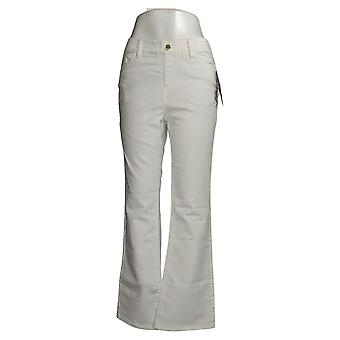 IMAN Global Chic Mujeres's Jeans Plus Illusion Bootcut White 734928100