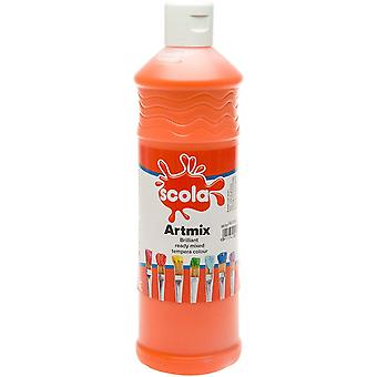 Scola Artmix Ready Mixed Tempera Paint 600ml (Orange)