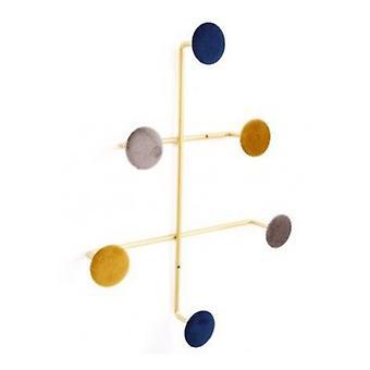 Geometric Velvet Button Hooks Small 43x33 CM