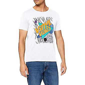 edc by Esprit 020CC2K308 T-Shirt, 100/white, M Men's
