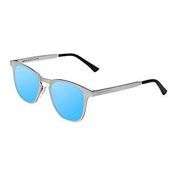 Northweek Regis Ice Sunglasses, Multicolor (Silver Metal/Blue Polarized), 9.0 Unisex-Adult