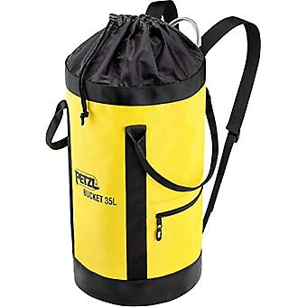 Petzl S41AY 035 bucket fabric Pack, remains vertical, 35 l, black/yellow