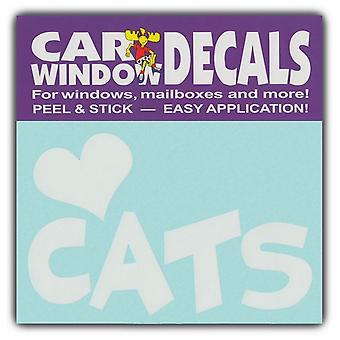 """Decal، نافذة الشارات، وأنا أحب القطط، 4.5 """"واسعة"""