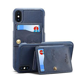 Slot per carte custodia in pelle portafoglio per iphone xs max blue pc213