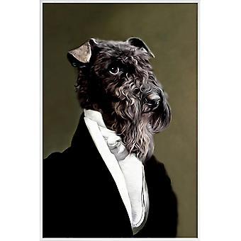 JUNIQE Print - Eluf - Affiches de chiens en noir & blanc
