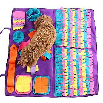 Hund kæledyr snuse mat oxford klud næse uddannelse sniffing pad legetøj kæledyr fodring pude tæppe spil