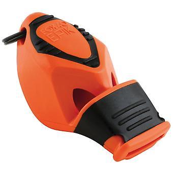 Fox 40 Epik CMG Safety Whistle C/W Wrist-Lanyard Orange