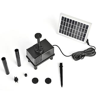 1.8 W Solar Water Pump Standing Floating Submersible Water Fountain For Pond Pool Aquarium Fountains Spout Garden Patio