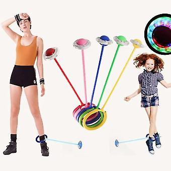 זוהר מקפץ כדורים רגל אחת מהבהבת לדלג על הכדור לקפוץ חבלים ספורט סווינג כדור ילדים כושר