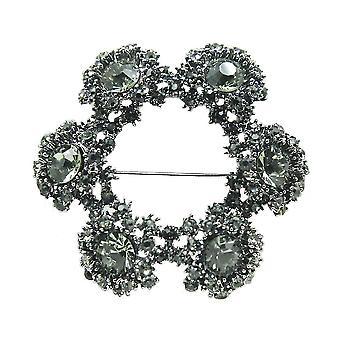 Retro Ladies Brooch Wreath Corsage Highend Rhinestone Brooch Pin