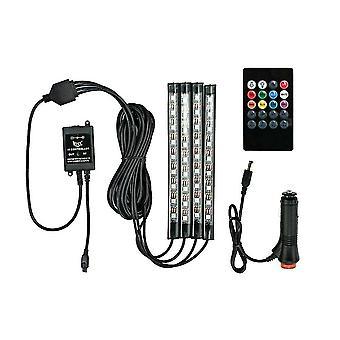 Auto interieur rgb led strip lichten 5050 ip65 waterdichte muziek + controller