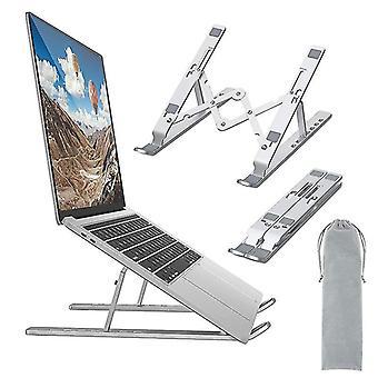 Laptop Stand Universal Ventileret Laptop Holder Foldbar Riser med 7 vinkler Højdejustering Ikke