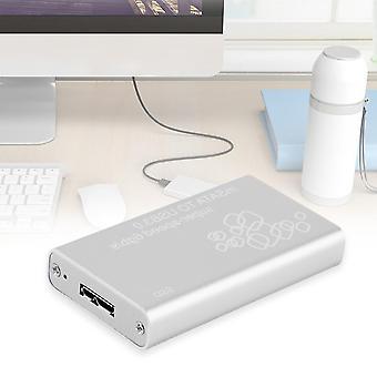 Μίνι Msata σε usb 3.0 SSD εξωτερική περίπτωση περιβλήματος κιβωτίων δίσκων με το καλώδιο