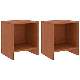 vidaXL yöpöydät 2 kpl hunajanruskea 35x30x40 cm mänty kiinteä puu