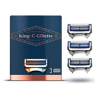 Shaving Blade Refill King C Gillette Neck Razor (3 uds)
