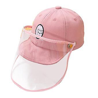 23X15cm rózsaszín rózsaszín pamut csúcsos sapka gyerekek tartós baseball sapka levehető kültéri védő sapka napvédő fejfedő dt3281