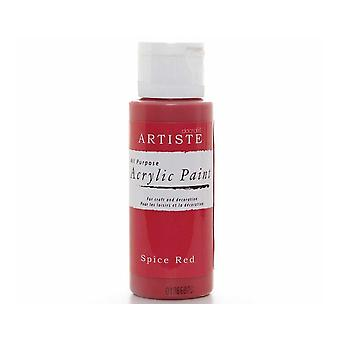 Spice Red docrafts Artiste All Purpose Acrylique Craft Paint - 59ml