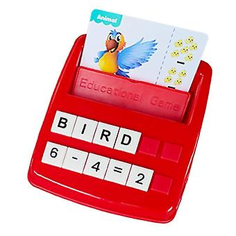 Matching Letter Game Spelling Educational Toys Games, Birthday Gifts For Boys And Girls(Red)