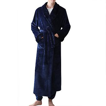 YANGFAN Herren 2 Stück Winter Plüsch Bademantel Pyjama Home Service