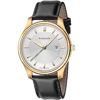 Wenger Men's City Classic Silver Dial Watch - 01.1441.106