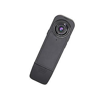 ミニポータブル 1080P HD 広角カメラ モーション検出ループ ビデオ録画ナイトビジョン警察 ビデオレコーダー(ブラック)