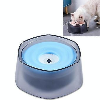 Haustier Auftrieb Trinkschüssel Splash-Proof Wasser für Hunde und Katzen Trinkwasser Schale (blau)