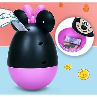 דיסני מיקי Tumbler קופת גיר לילדים בנות צעצוע בנק חמוד קריקטורה מיני פיגי בנקים