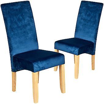 Set of 2 luxury winsor grey velvet fabric dining chair awo68859