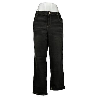 LOGO by Lori Goldstein Women's Jeans Reg Tinted Black A309825
