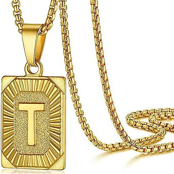 """925 Silve Initial Alphabate """"T""""Letter Necklace - 20 inch"""