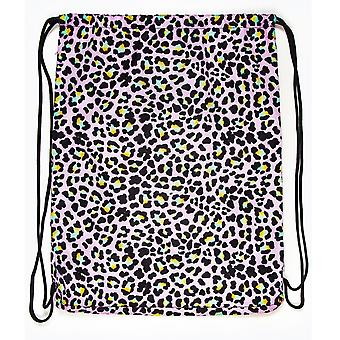 Hype Disco Leopard Drawstring Bag