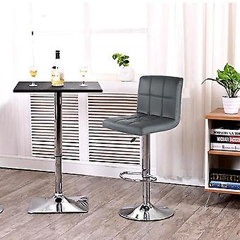 Pu Leather Swivel Bar Stools Chairs Height Adjustable Counter Pub Chair