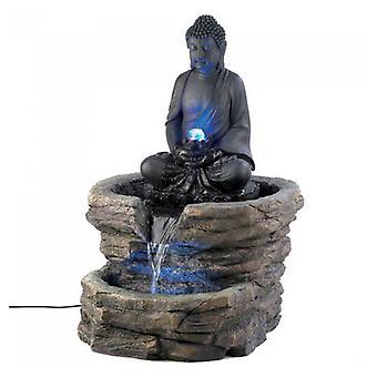 Cascading Fountains Buddha Lighted Garden Fountain, Pack of 1