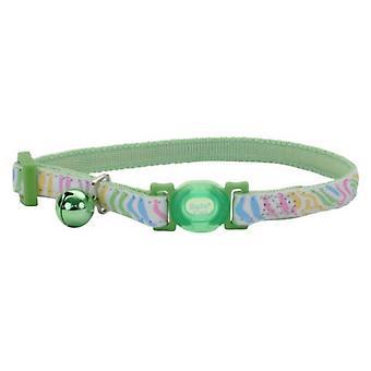"""Coastal Pet Safe Cat Glow in the Dark Adjustable Collar Green Stripe - 12""""L x 3/8""""W"""
