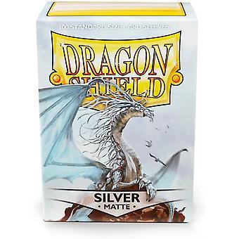 Dragon Shield Silver Matte Card Sleeves - 100 Sleeves