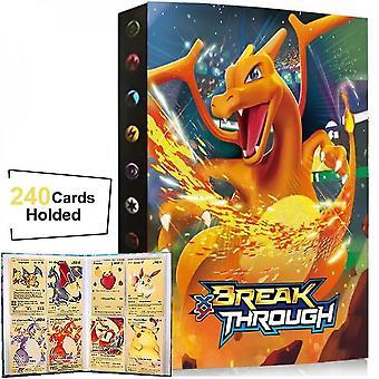 240 st samling av Pokemon Card Book Spel Karaktärskort Album