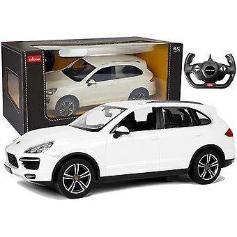Controlat de la distanță Porsche Cayenne Turbo 1:14 Alb
